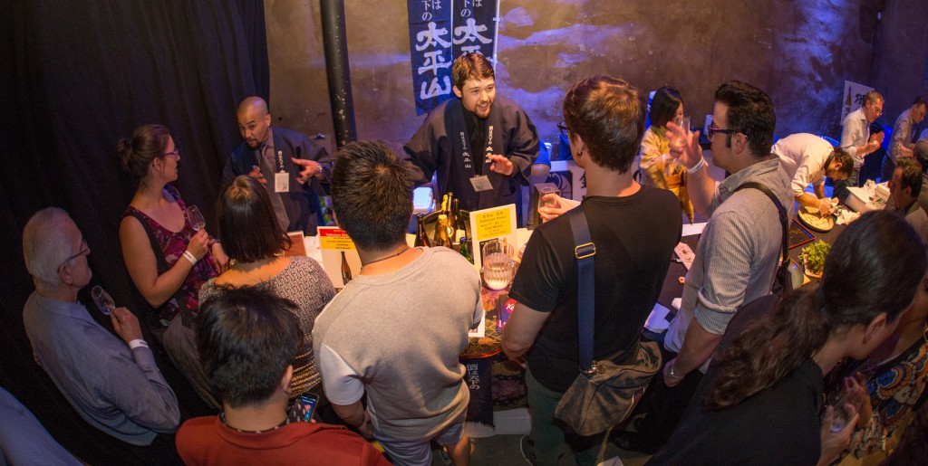 The Kimura Enterprises table had many tasters wanting to learn more about sake.