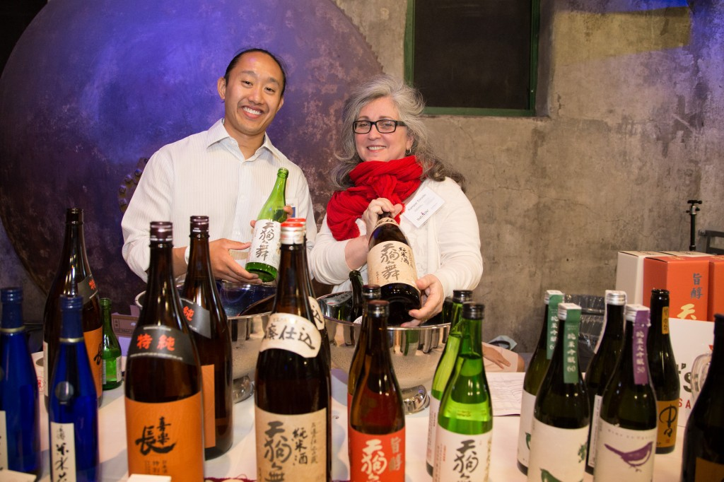 The team from That's Life Gourmet were ready to pour a fine selection of sake.