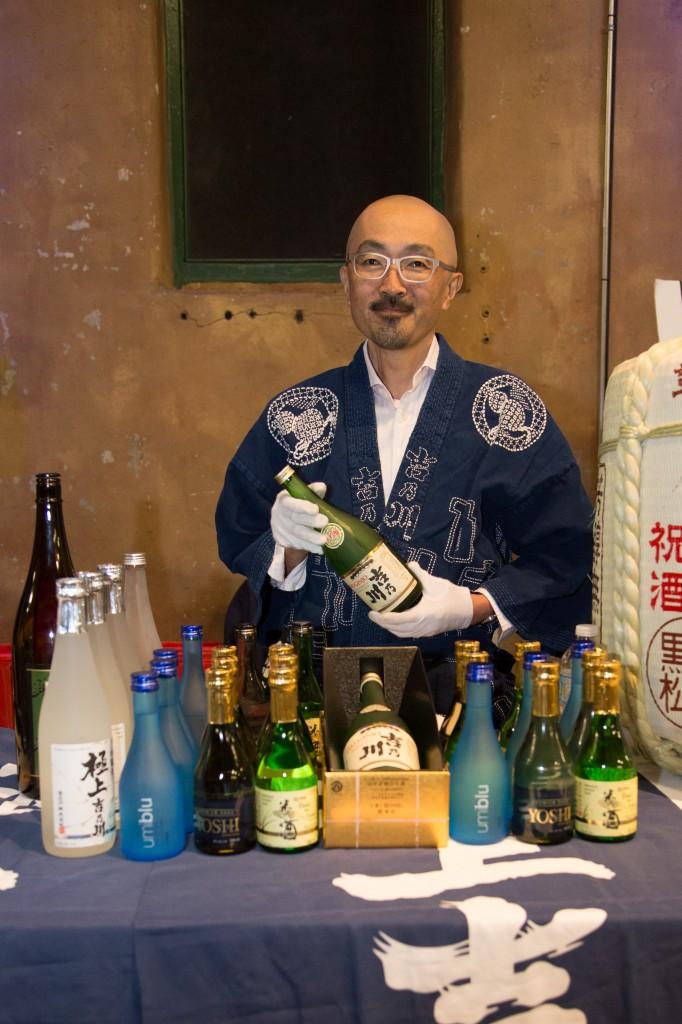 Mr. Kawakami, President of Niigata's Yoshi no Gawa brewery was on hand pouring for his 4th Kampai event!
