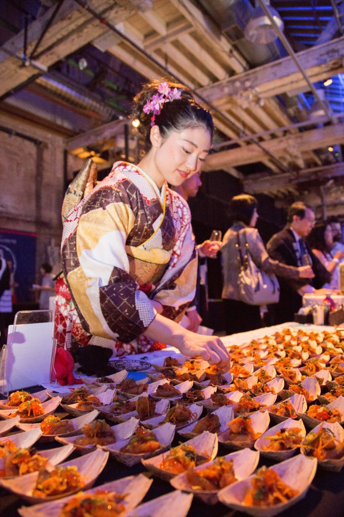 The food at Kampai 2015 was designed to complement the myriad of flavours and styles of sake on hand.